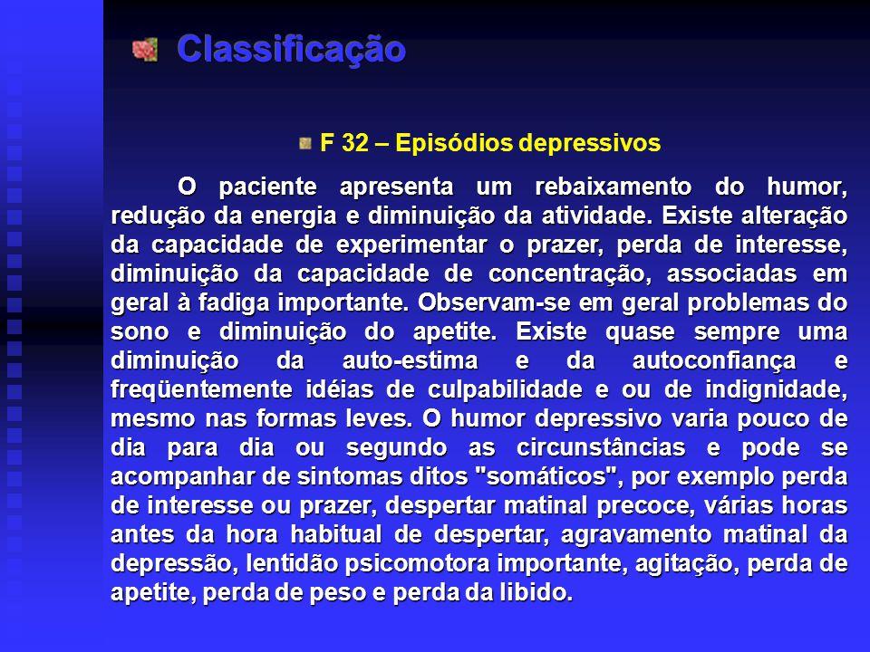 F 32 – Episódios depressivos