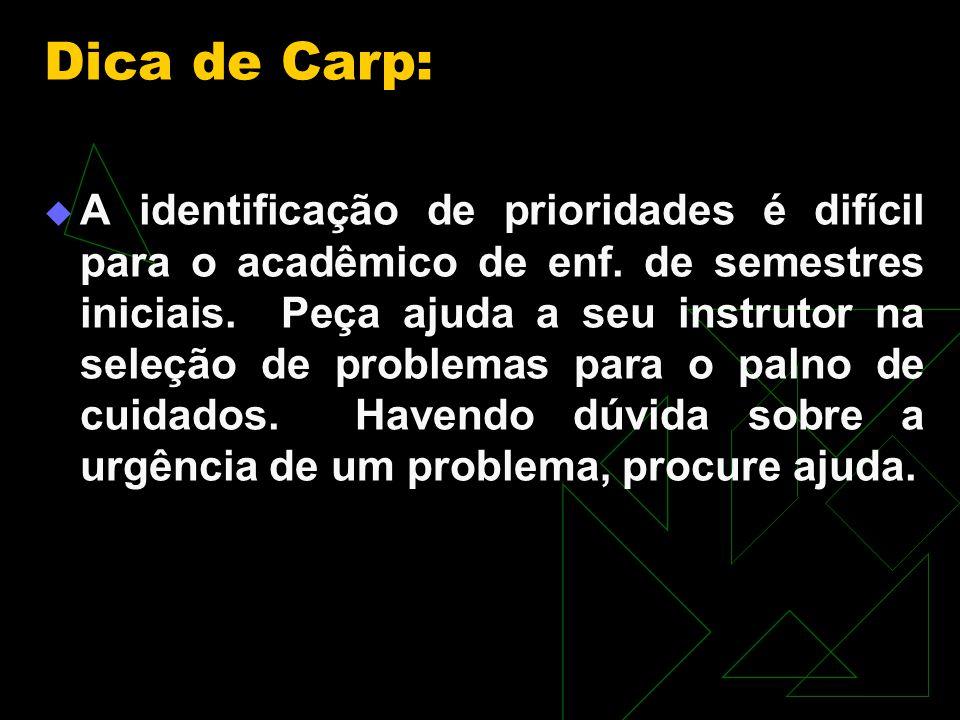 Dica de Carp: