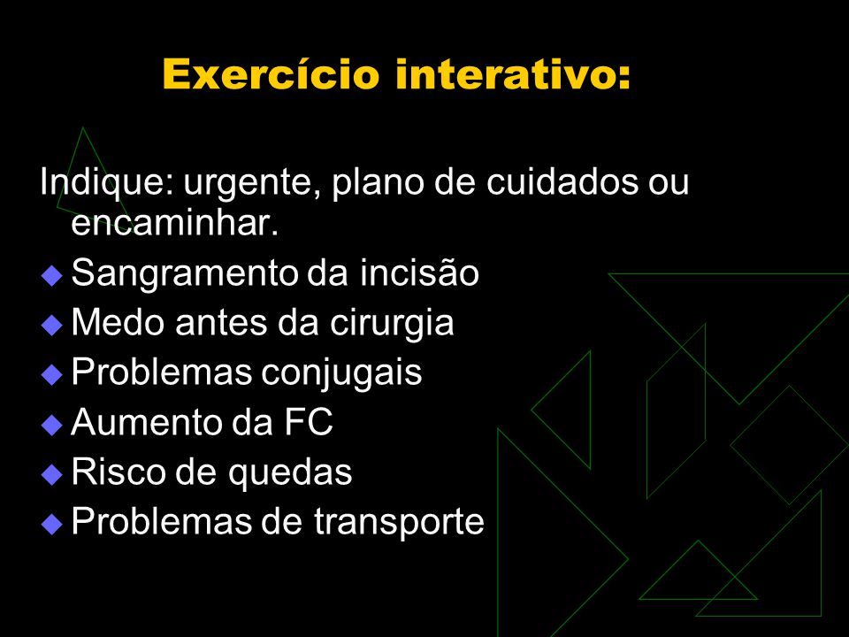 Exercício interativo: