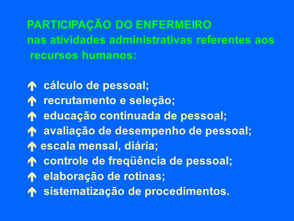 PARTICIPAÇÃO DO ENFERMEIRO