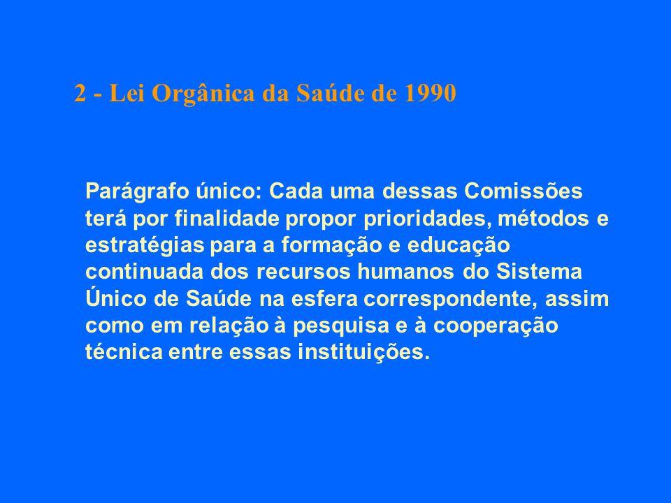 2 - Lei Orgânica da Saúde de 1990