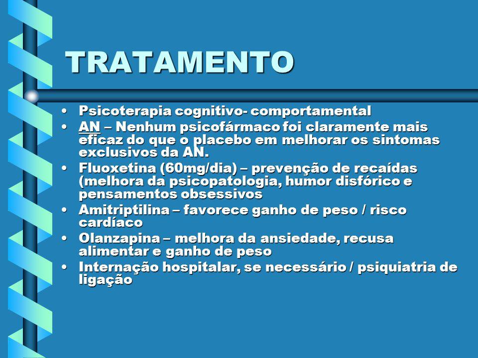 TRATAMENTO Psicoterapia cognitivo- comportamental