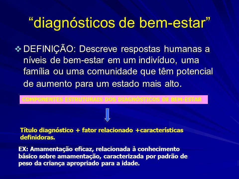 diagnósticos de bem-estar