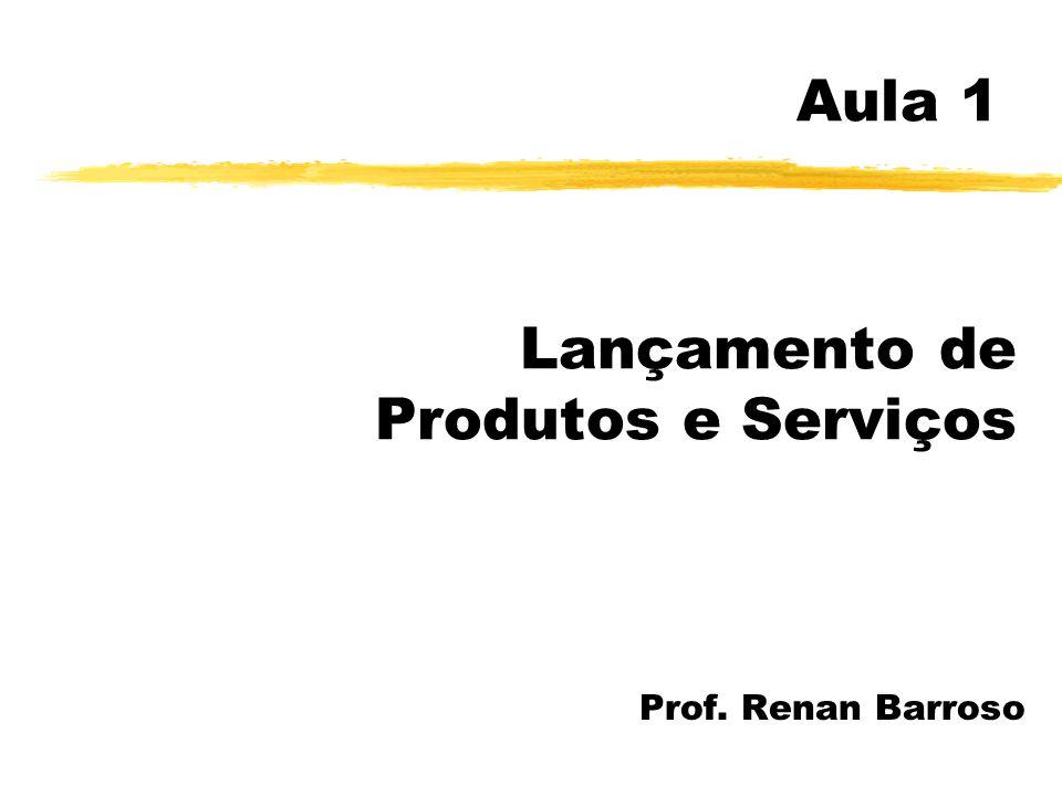 Aula 1 Lançamento de Produtos e Serviços Prof. Renan Barroso