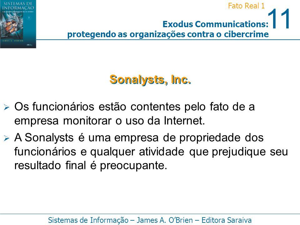 Sonalysts, Inc. Os funcionários estão contentes pelo fato de a empresa monitorar o uso da Internet.