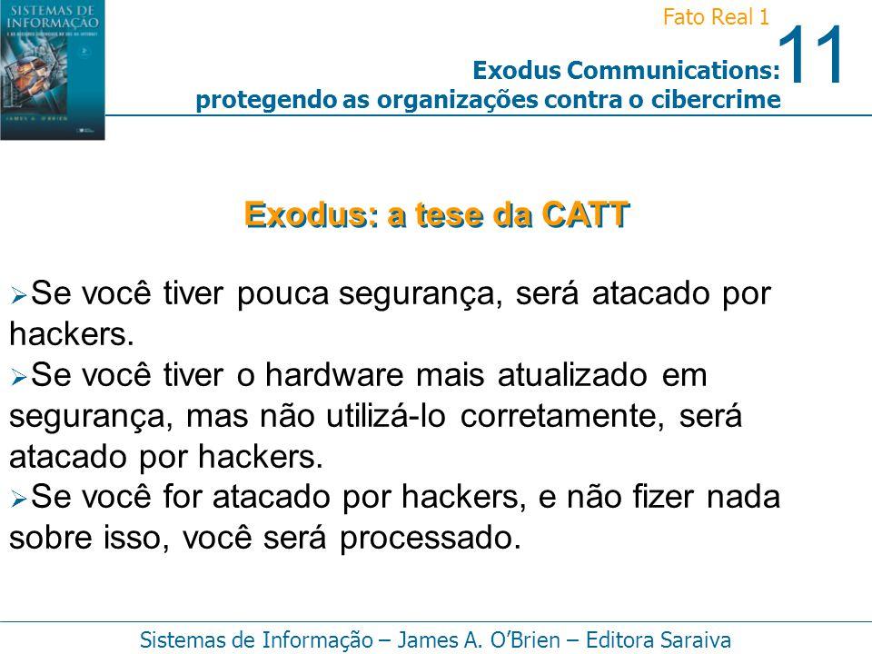 Exodus: a tese da CATT Se você tiver pouca segurança, será atacado por hackers.