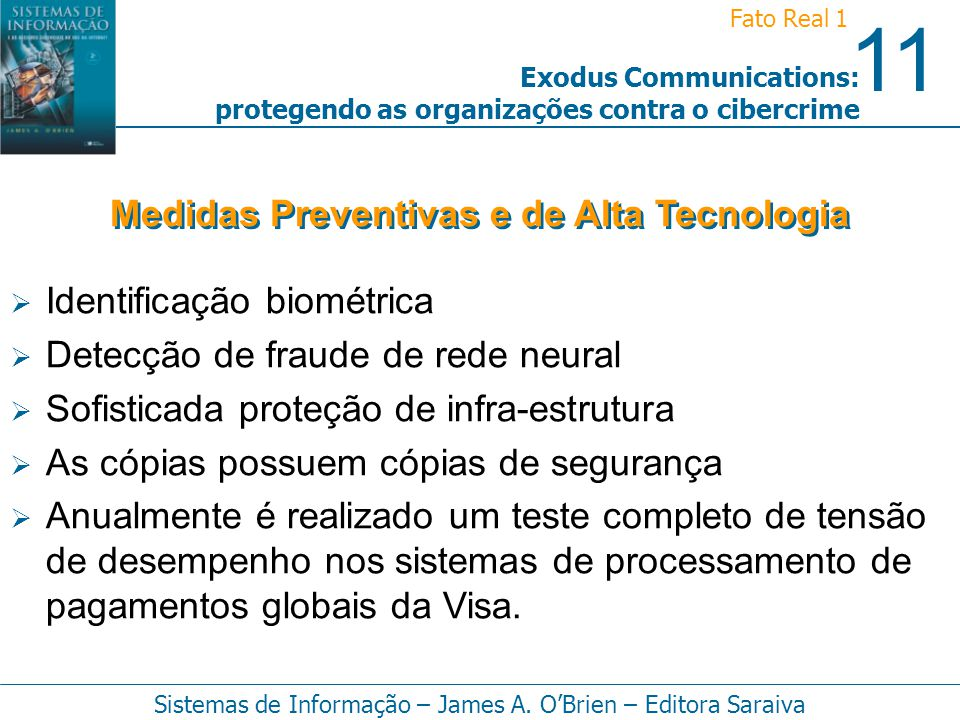Medidas Preventivas e de Alta Tecnologia
