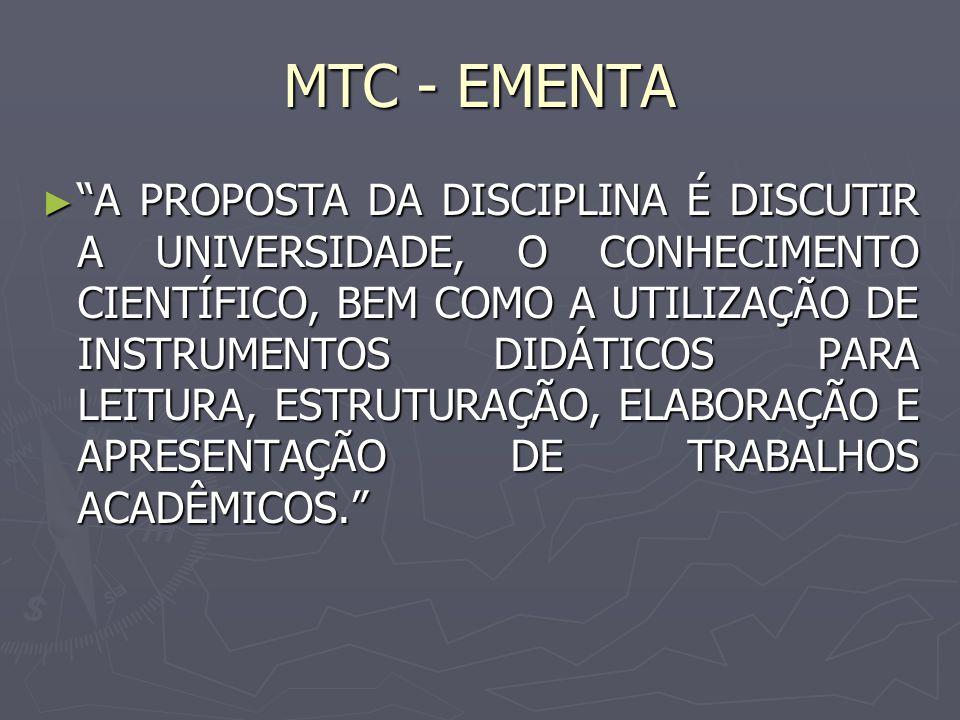 MTC - EMENTA