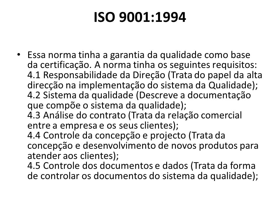 ISO 9001:1994