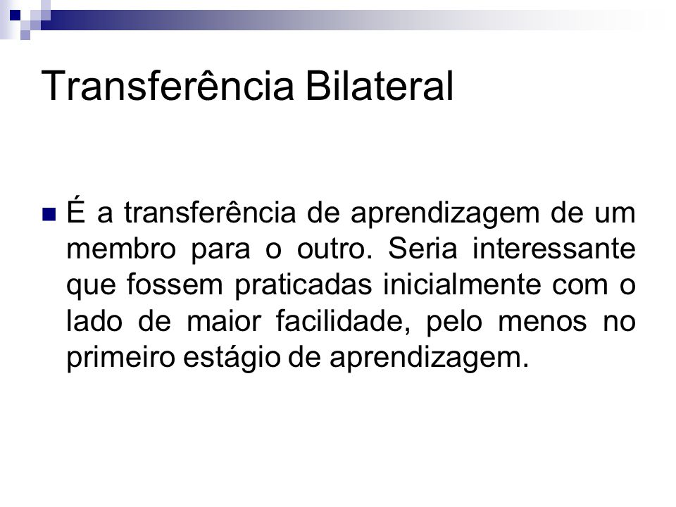 Transferência Bilateral