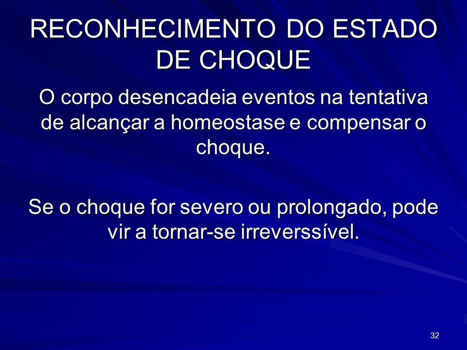 RECONHECIMENTO DO ESTADO DE CHOQUE