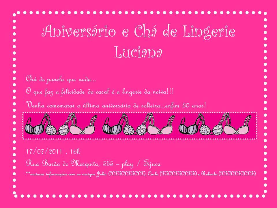 Aniversário e Chá de Lingerie Luciana