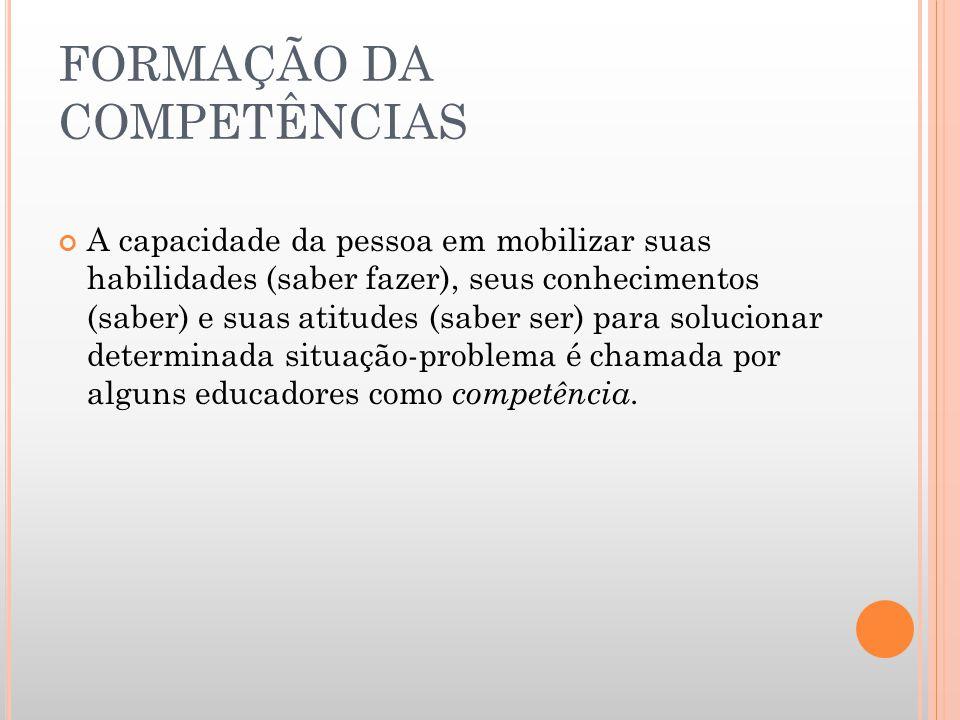 FORMAÇÃO DA COMPETÊNCIAS