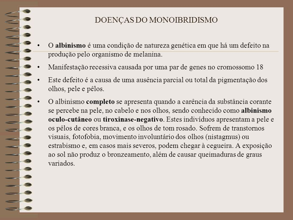 DOENÇAS DO MONOIBRIDISMO