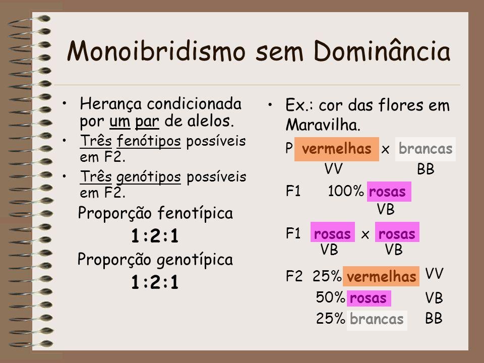 Monoibridismo sem Dominância