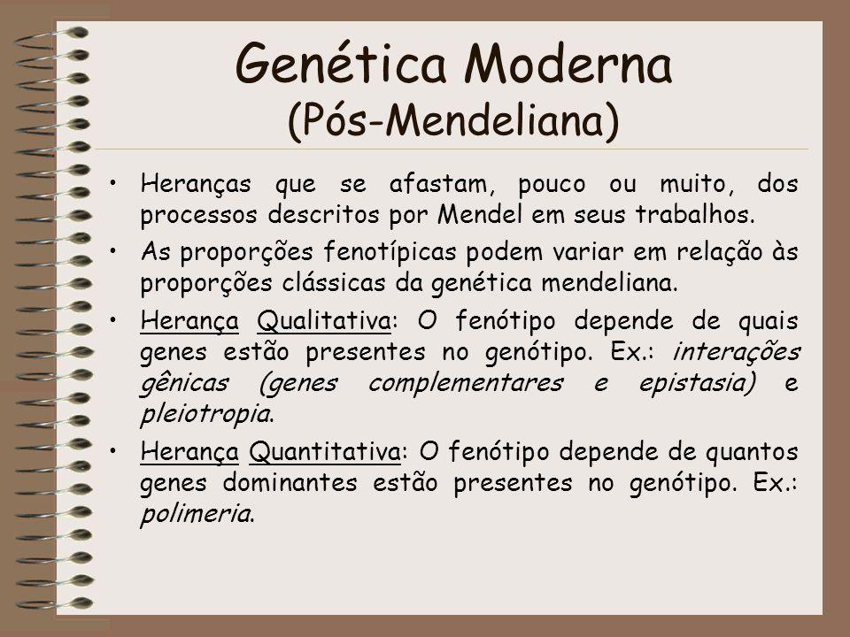 Genética Moderna (Pós-Mendeliana)
