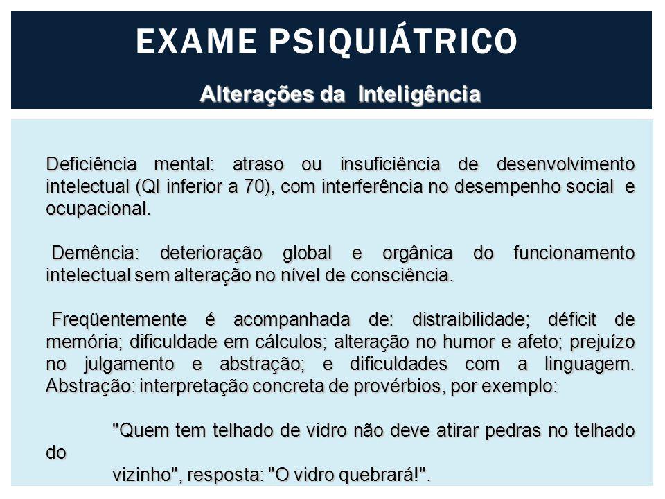 Alterações da Inteligência