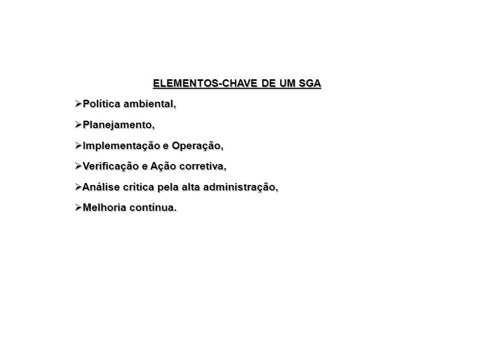 ELEMENTOS-CHAVE DE UM SGA
