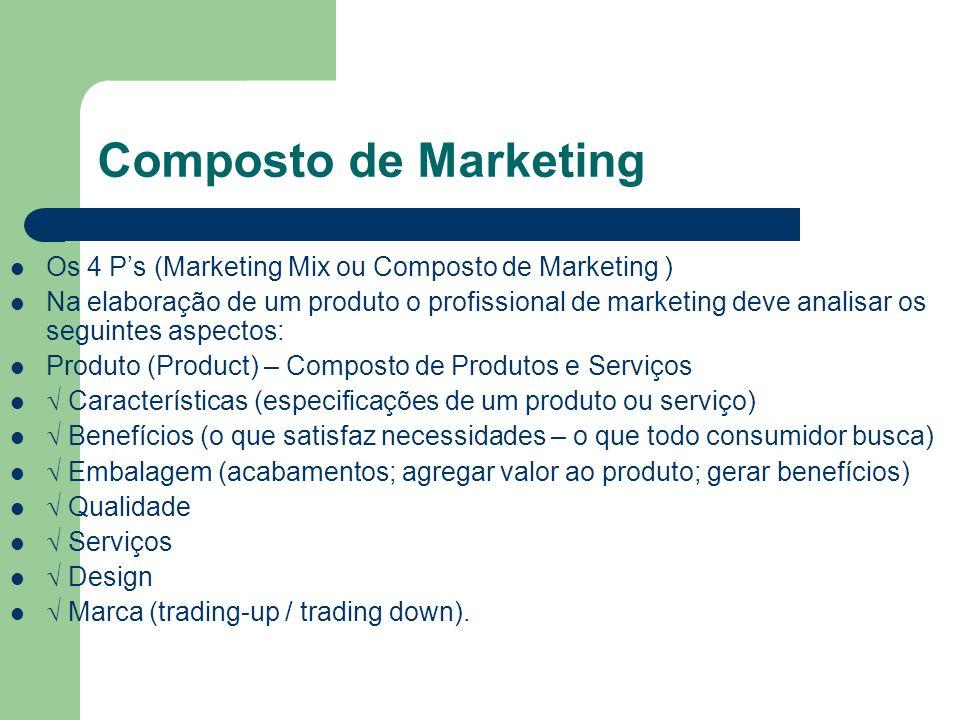 Composto de Marketing Os 4 P's (Marketing Mix ou Composto de Marketing )