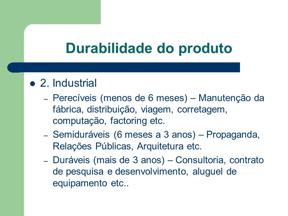 Durabilidade do produto