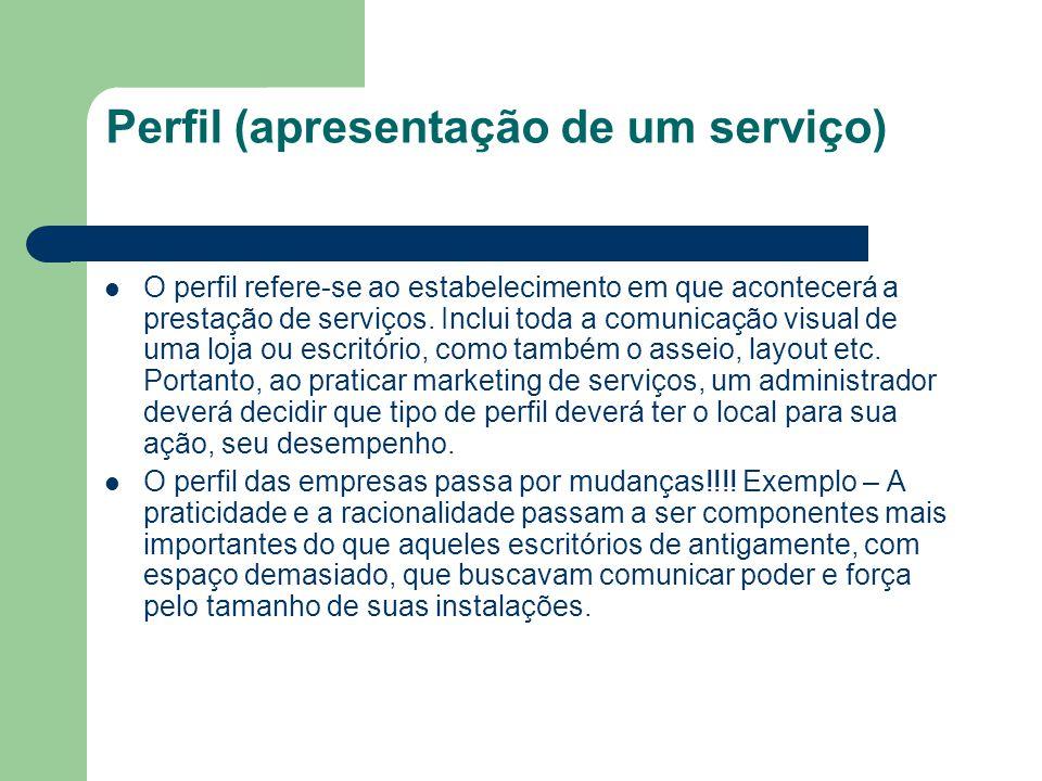 Perfil (apresentação de um serviço)