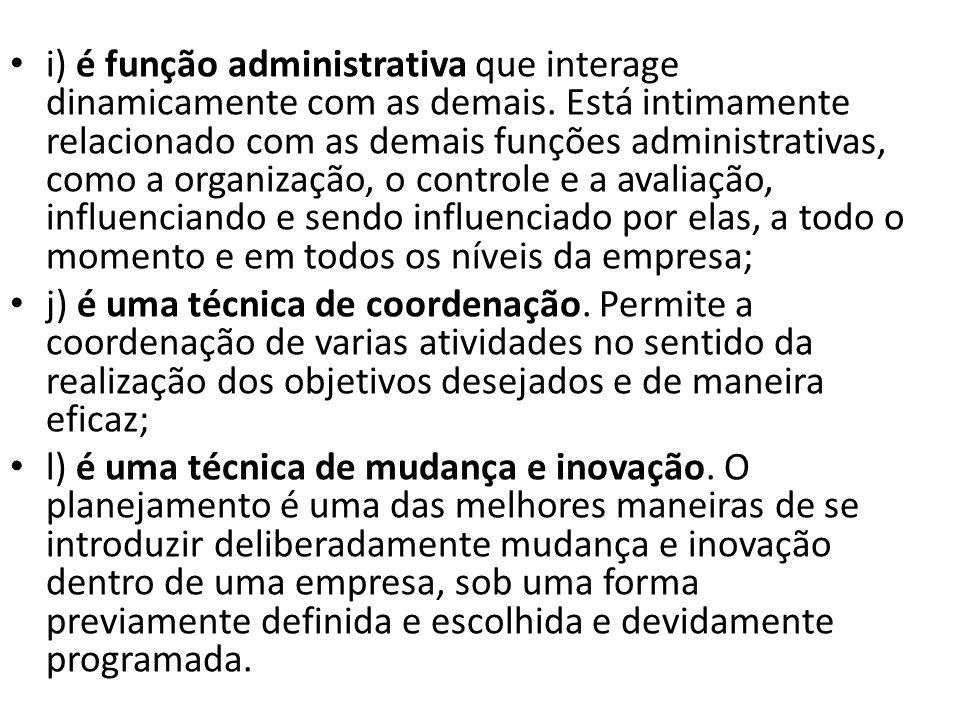 i) é função administrativa que interage dinamicamente com as demais
