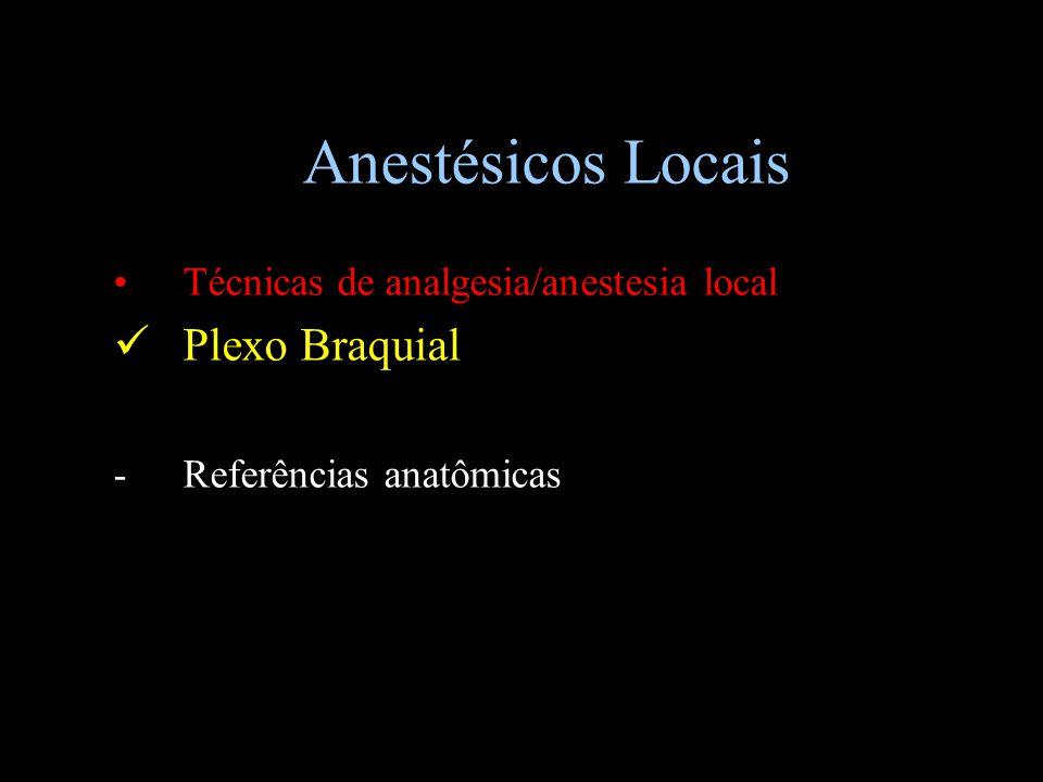 Anestésicos Locais Plexo Braquial