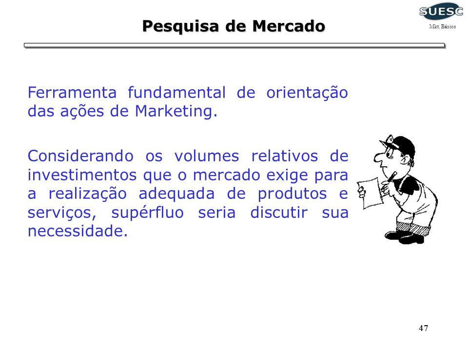 Ferramenta fundamental de orientação das ações de Marketing.