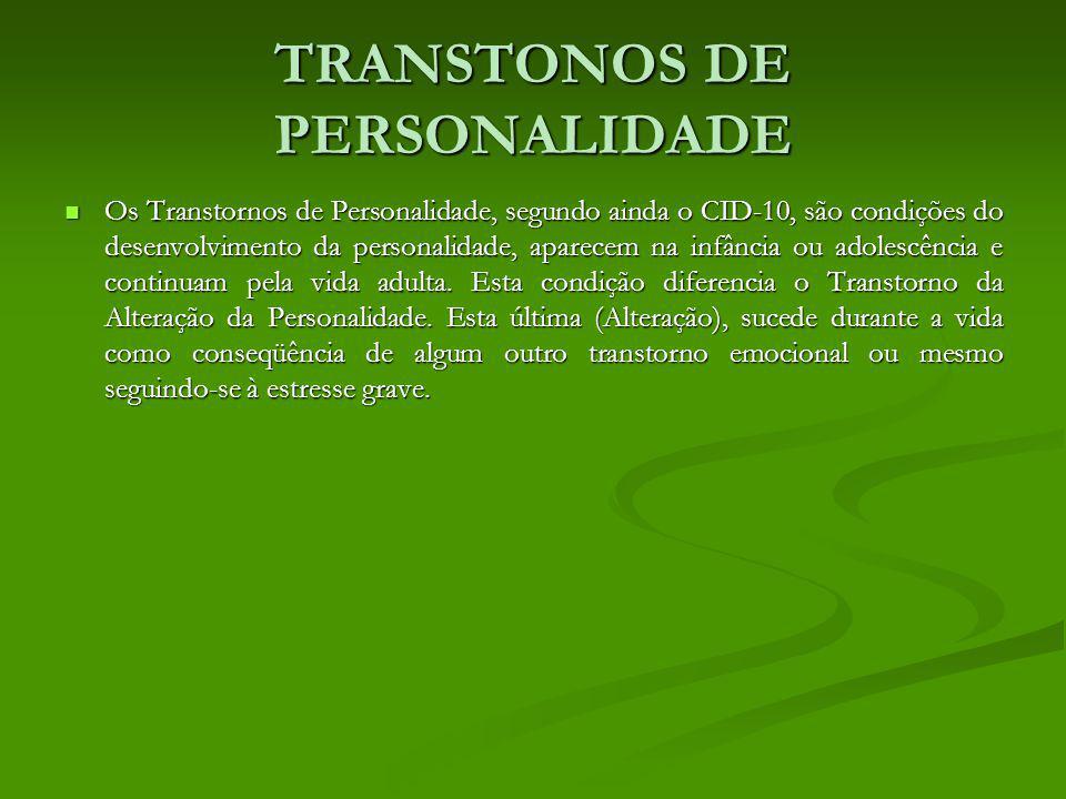 TRANSTONOS DE PERSONALIDADE