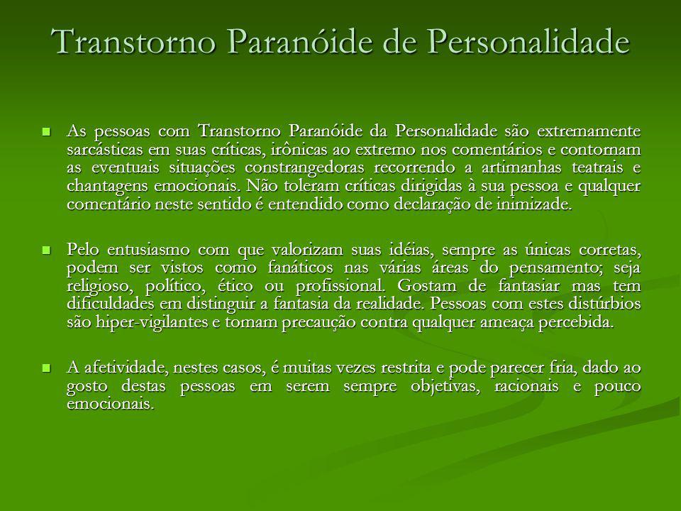 Transtorno Paranóide de Personalidade