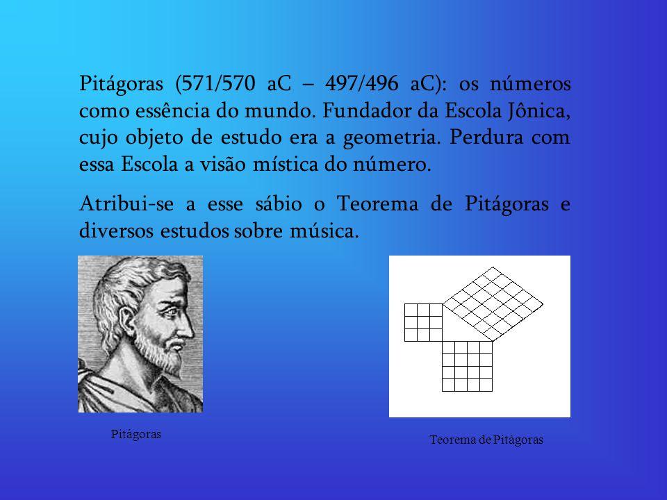 Pitágoras (571/570 aC – 497/496 aC): os números como essência do mundo