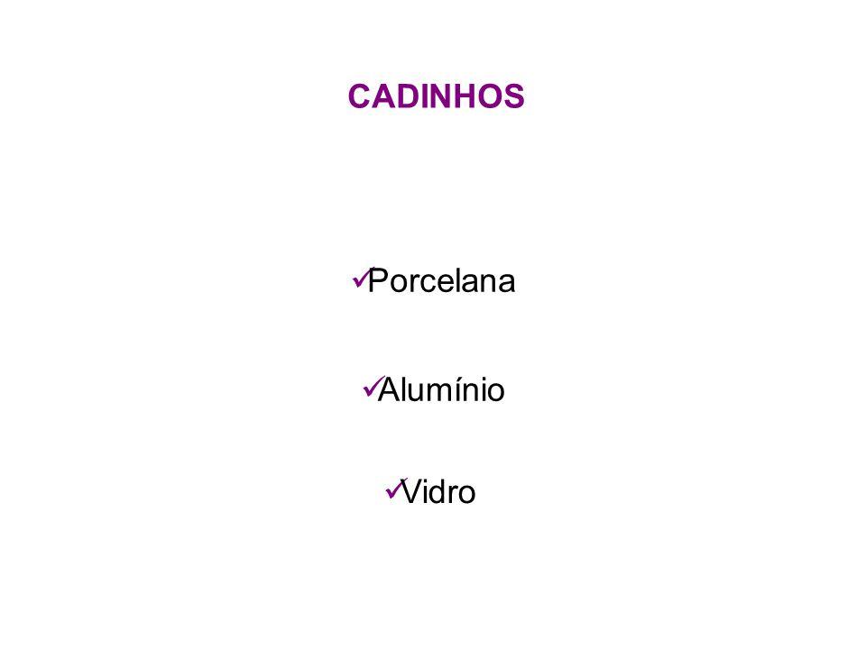 CADINHOS Porcelana Alumínio Vidro