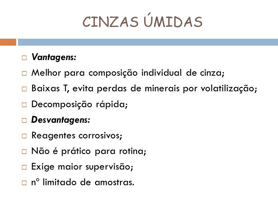CINZAS ÚMIDAS Vantagens: Melhor para composição individual de cinza;