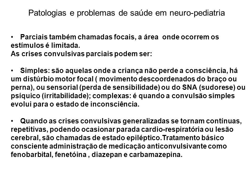 Patologias e problemas de saúde em neuro-pediatria