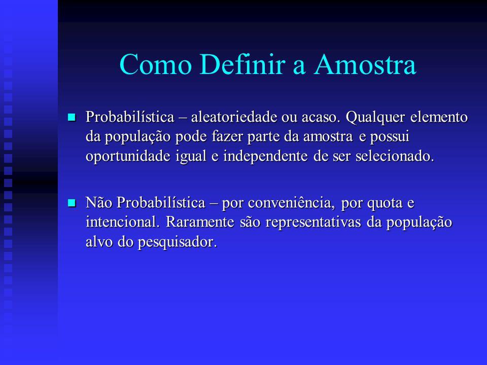 Como Definir a Amostra
