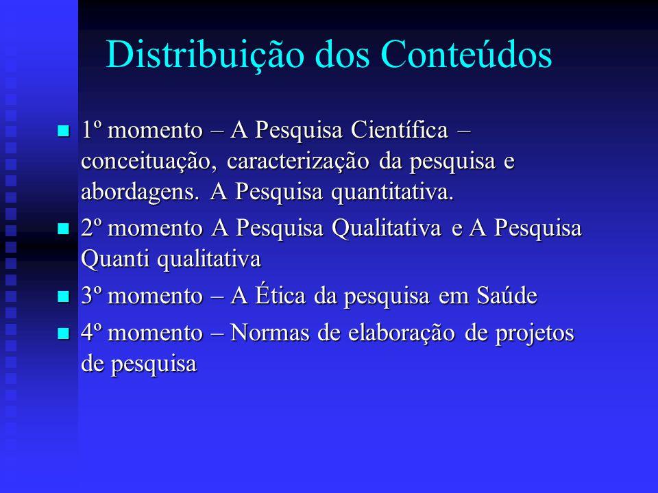 Distribuição dos Conteúdos