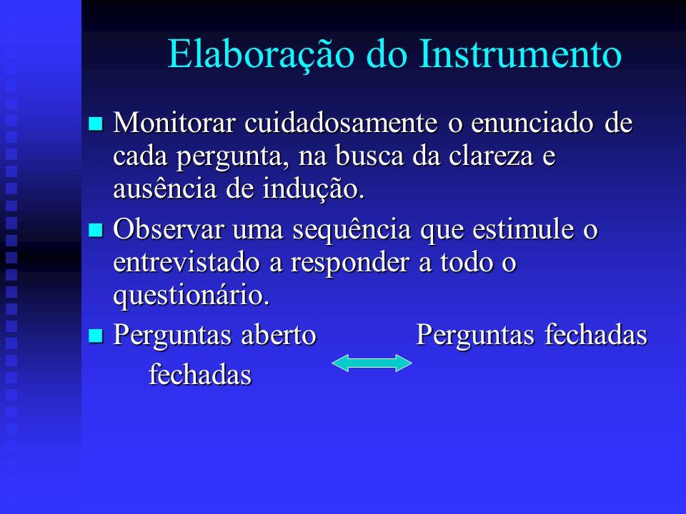 Elaboração do Instrumento