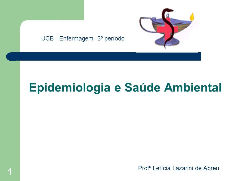 Epidemiologia e Saúde Ambiental