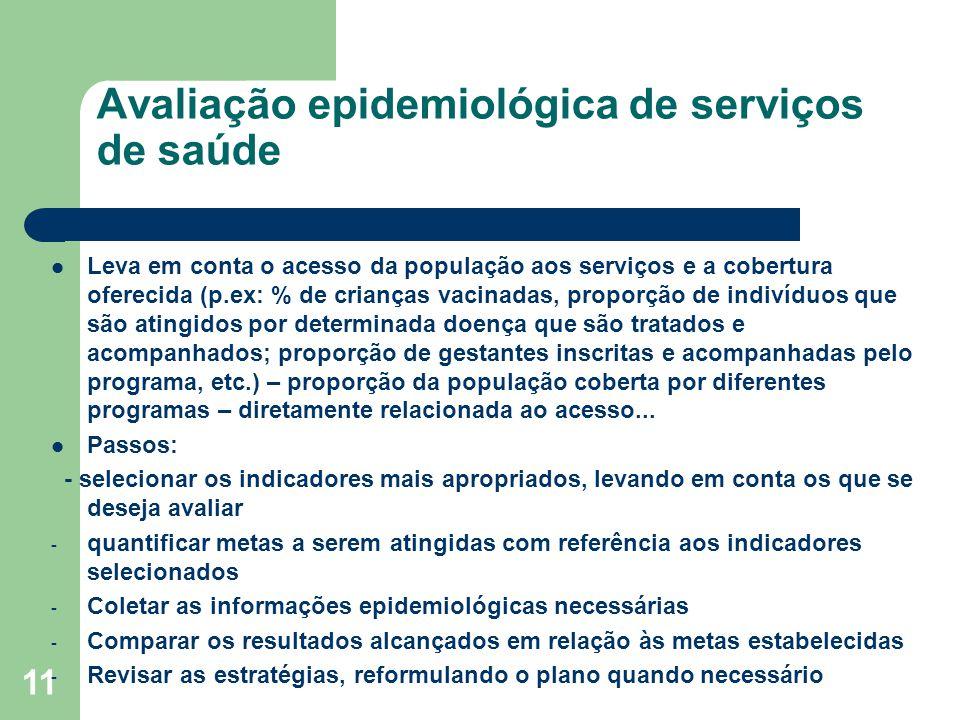 Avaliação epidemiológica de serviços de saúde