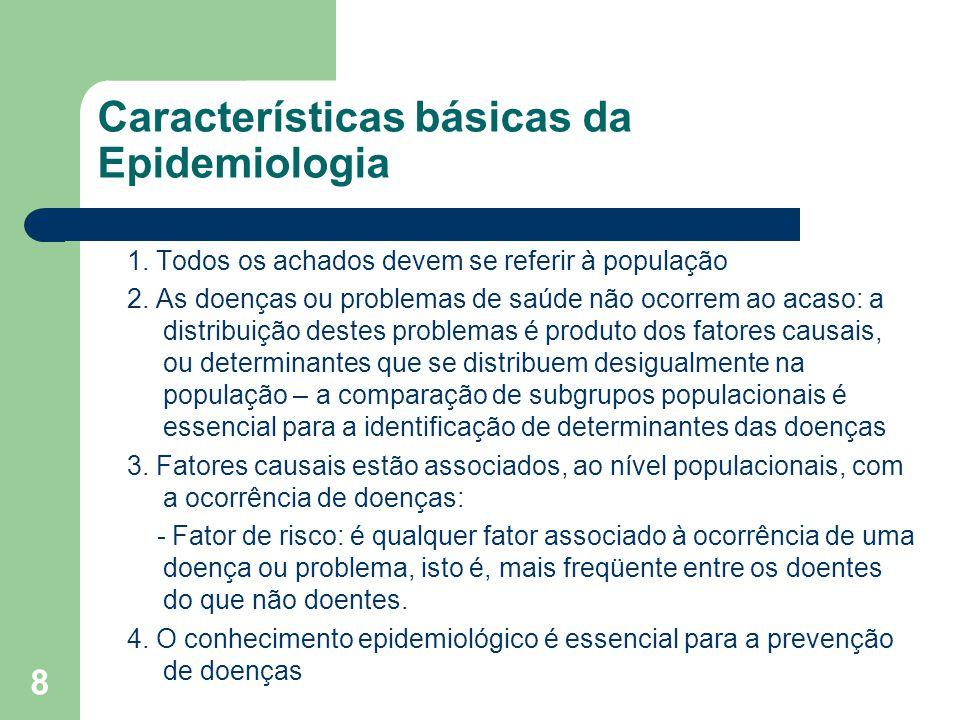 Características básicas da Epidemiologia