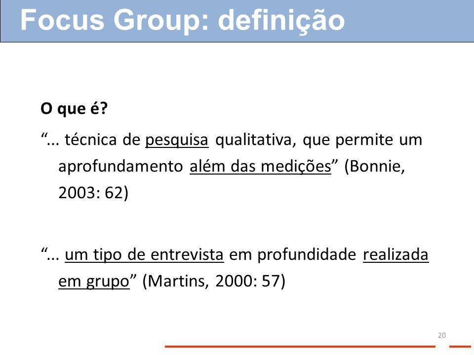 Focus Group: definição