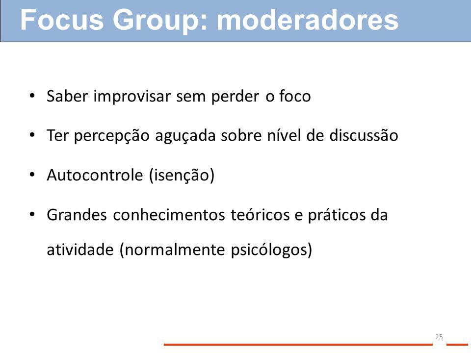 Focus Group: moderadores