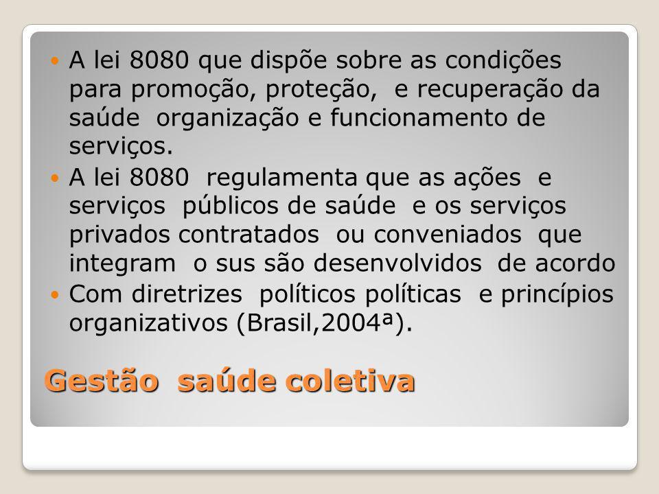 A lei 8080 que dispõe sobre as condições para promoção, proteção, e recuperação da saúde organização e funcionamento de serviços.