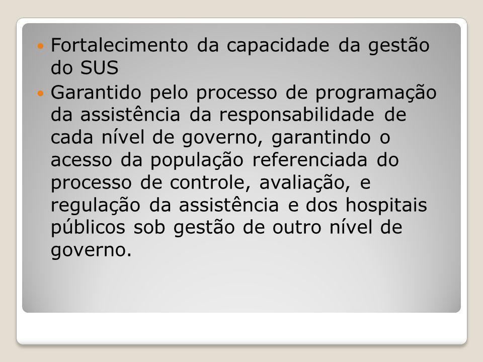 Fortalecimento da capacidade da gestão do SUS