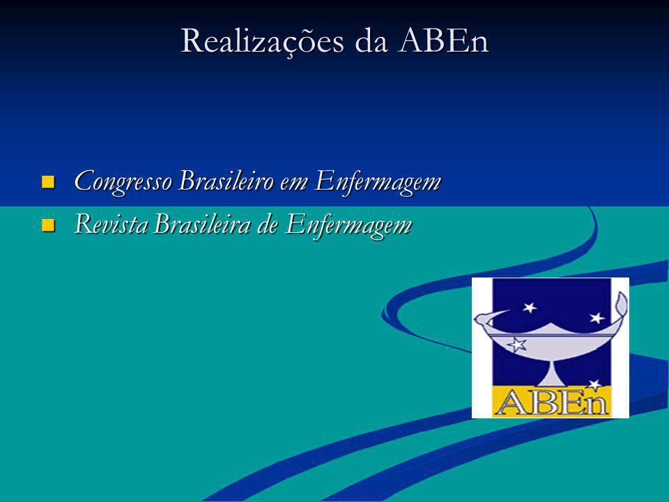 Realizações da ABEn Congresso Brasileiro em Enfermagem