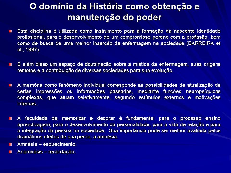 O domínio da História como obtenção e manutenção do poder