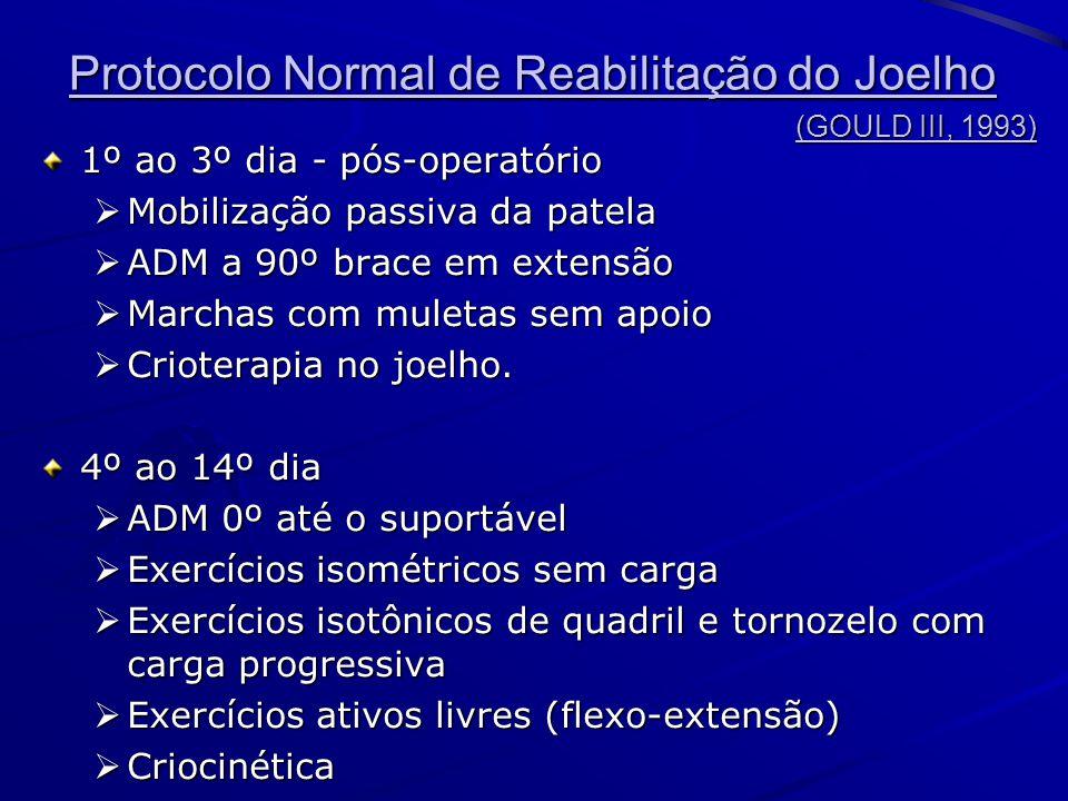 Protocolo Normal de Reabilitação do Joelho