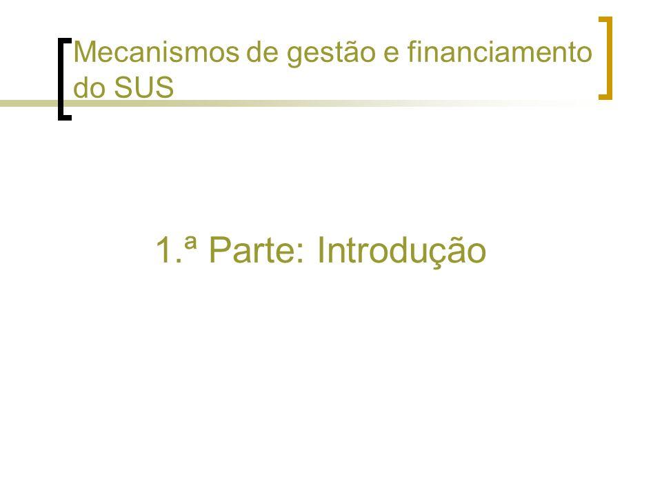 Mecanismos de gestão e financiamento do SUS