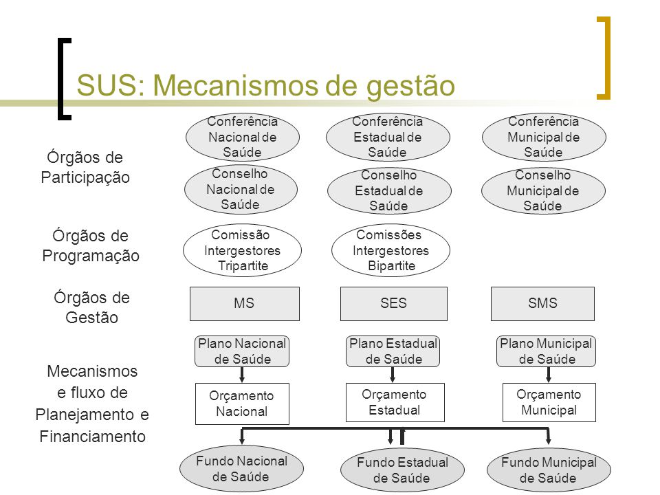 SUS: Mecanismos de gestão
