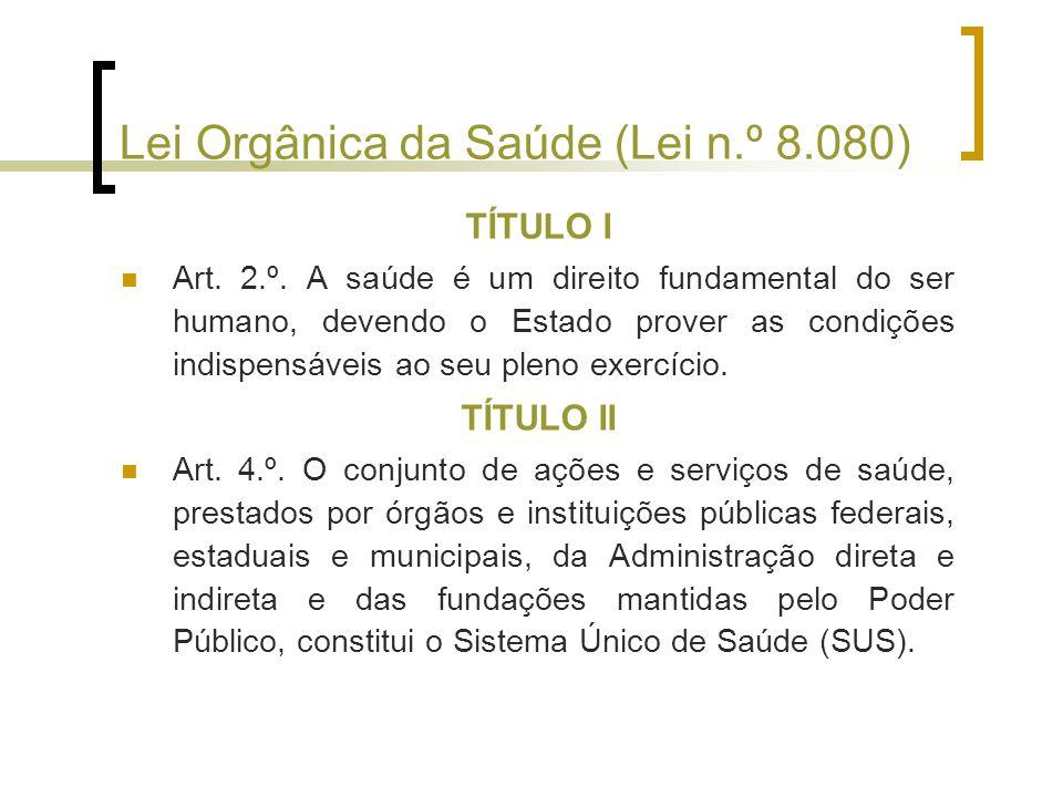 Lei Orgânica da Saúde (Lei n.º 8.080)